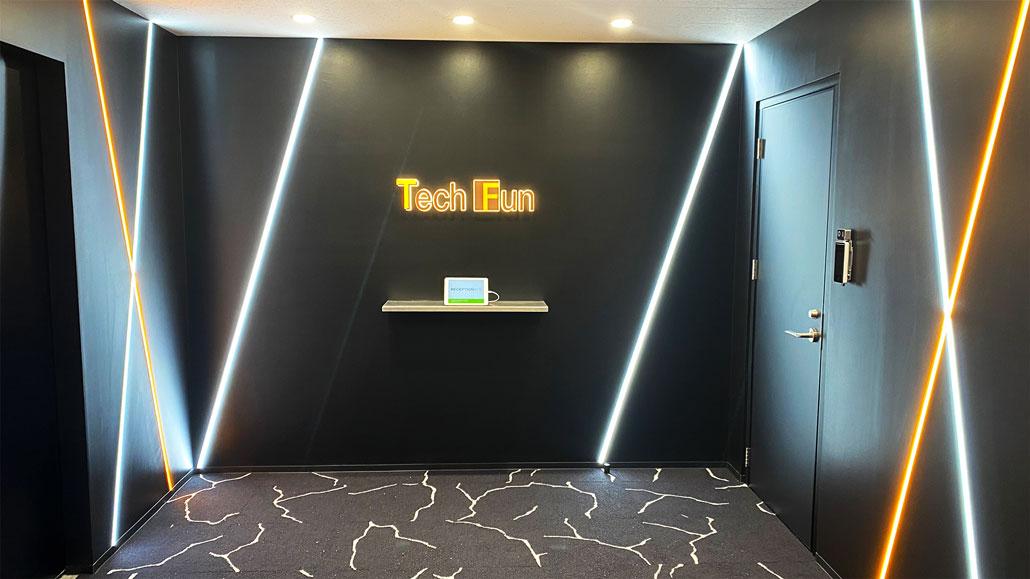 Tech Funの新オフィスエントランス